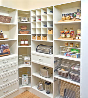 Walk In Pantry in Laminate